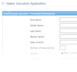 Screenshot from the Tribal Education Web Portal